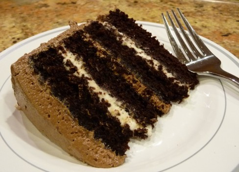 Chocolate Marshmallow Layer Cake - STARTED FROM THE BATTER
