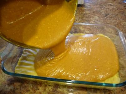 Pumpkin Gooey Butter Cake - STARTED FROM THE BATTER