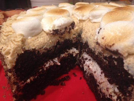 S'mores Cake - Started From The Batter