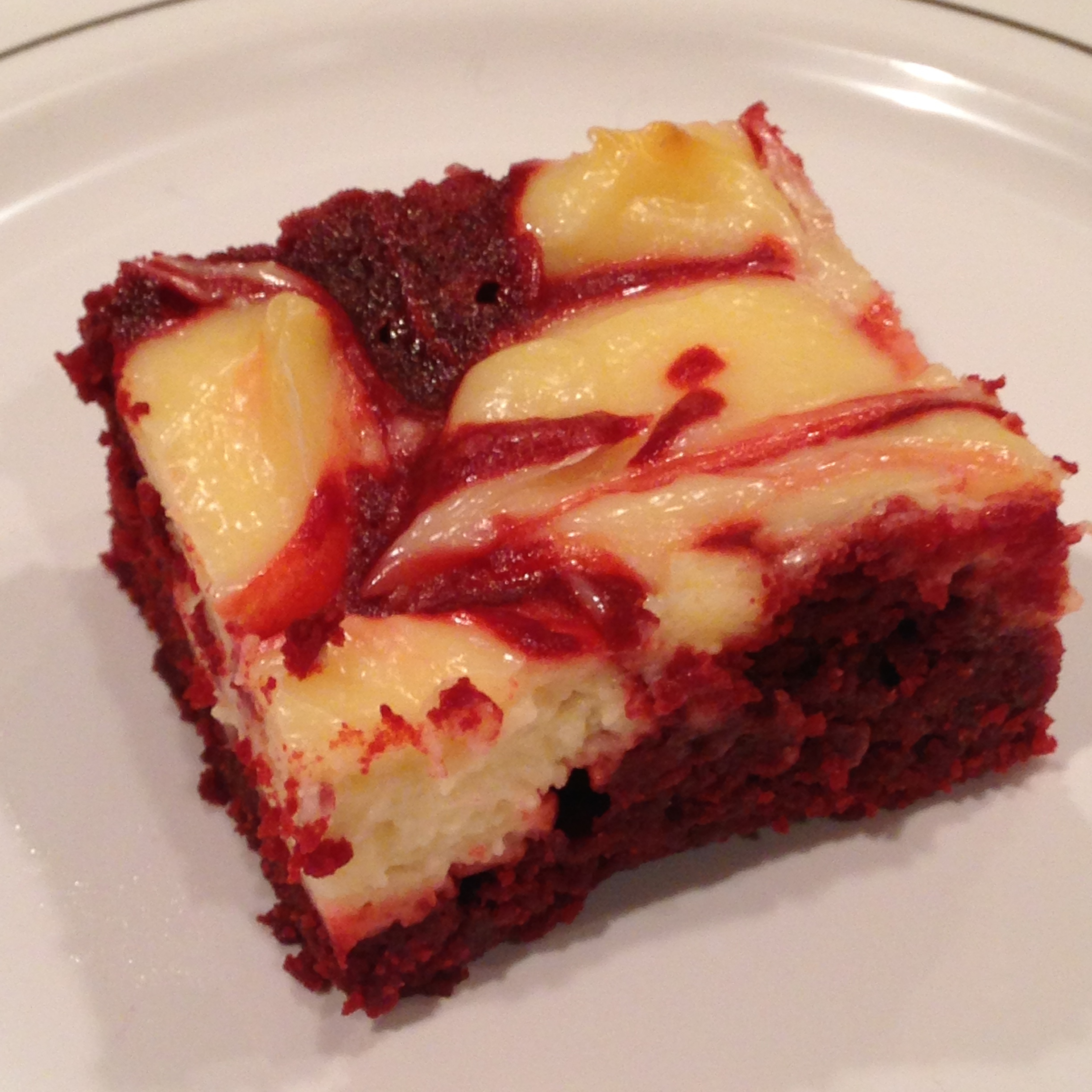 Red Velvet Cheesecake Swirl Brownies - Started From The Batter