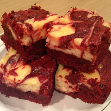 Red Velvet Cheesecake Swirl Brownies - Started From The Batter