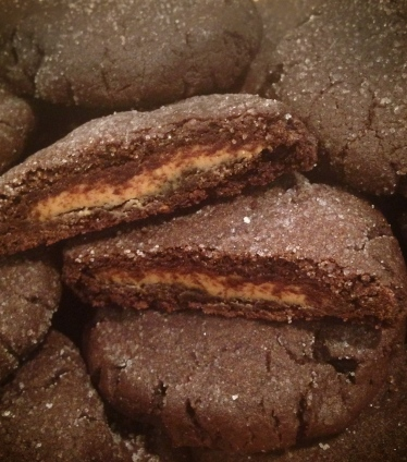 Peanut Butter Stuffed Chocolate Cookies - Started From The Batter