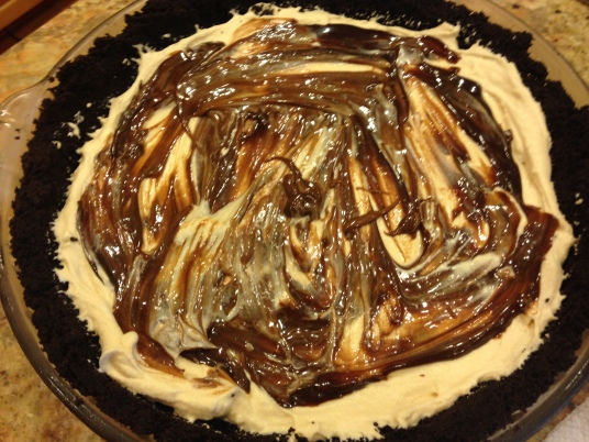 Peanut Butter Ice Cream Oreo Pie - STARTED FROM THE BATTER