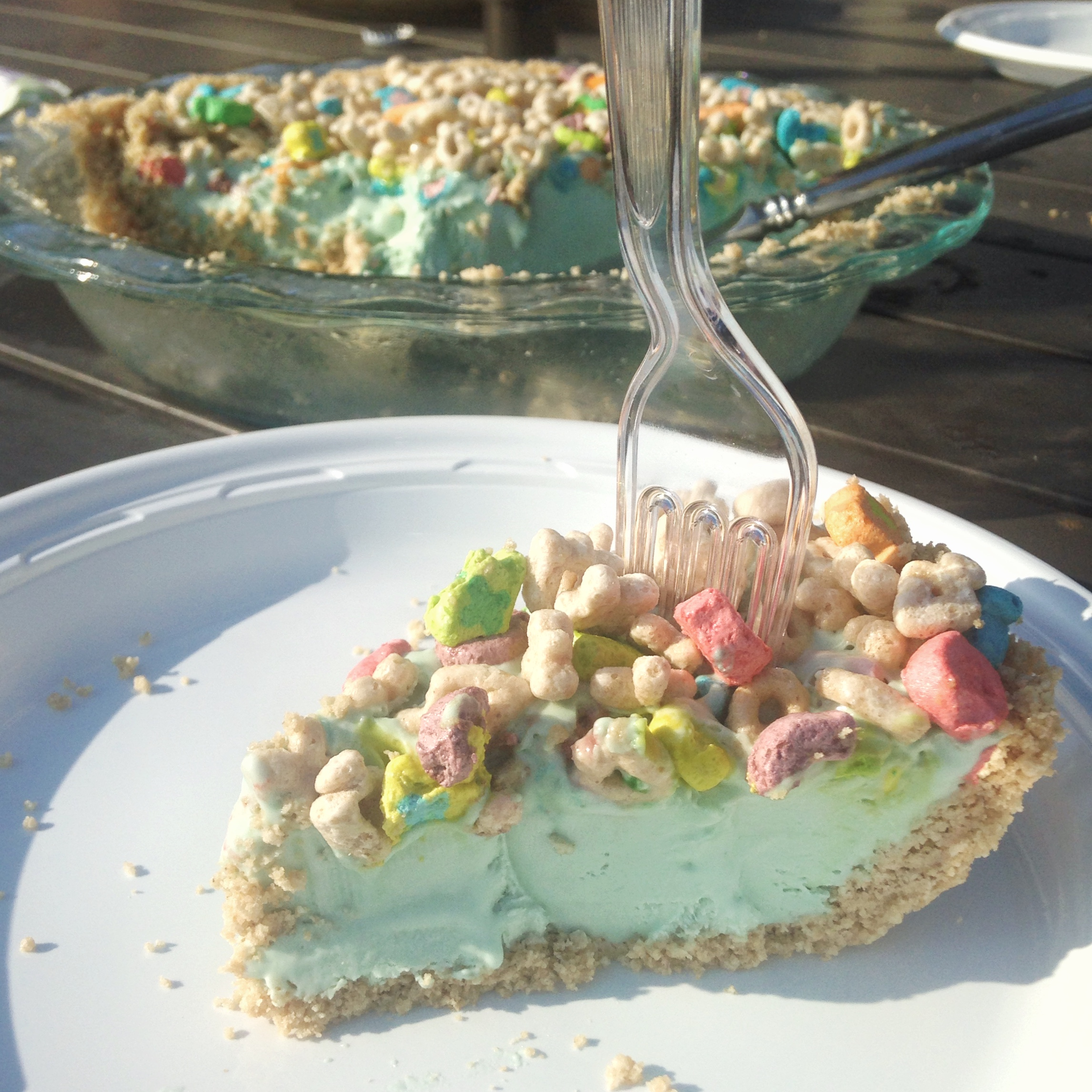 Its going down for cereal started from the batter lucky charms cereal milk ice cream pie ccuart Image collections